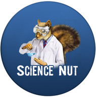 Science Nut Sandstone Ceramic Coaster | Front