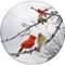 Cardinal Kiss Coaster