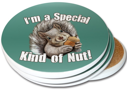I'm a Special Kind of Nut! Sandstone Ceramic Coasters | 4pack