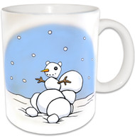Snowman Squirrel Mug | Christmas Squirrel Coffee Mug