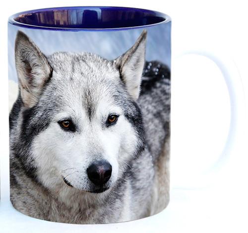 Timber Wolves in Snow Mug   Wolf Mug
