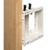TV Box Recessed Outlet Multi-Gang  (Wall Plate Kit) 2-Gang, White, 1-Pack