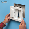 Arlington Low Profile TV Box Low Power and Low Voltage Electrical Box TVL508