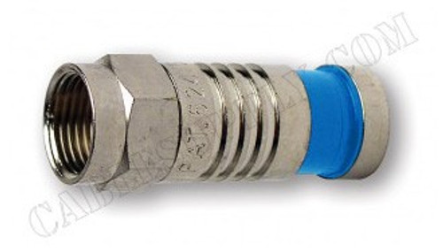 RG6 Quad F Type Coaxial Connector Nickel Plate by Platinum Tools