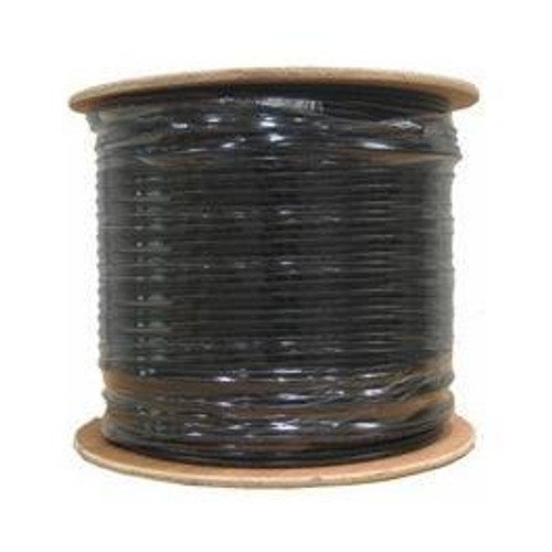 Cat6 Outdoor Direct Burial Gel-Filled Bulk Cable 1000ft Black (Spool)