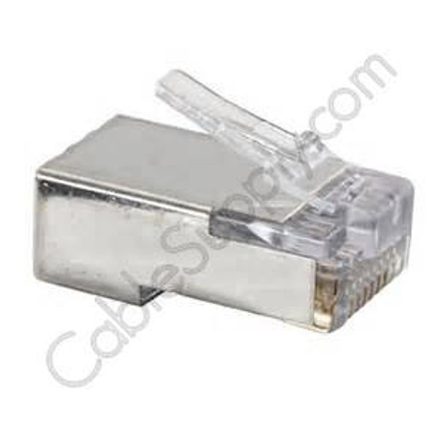 Cat5E and Cat6 EZ-RJ45 Shielded Modular Plug by Platinum Tools