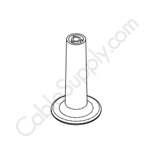White Plastic Wire Distribution Spool (White Mushroom with Screw)