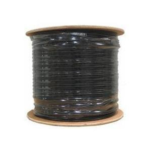 Computer Cable By The Foot Cat5E and Cat6 Available in Outdoor UV CMX Black Jacketed Cable