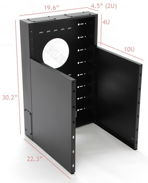 10U + 4U Vertical MiniRaQ Convertible - Compact by Black Hawk Labs