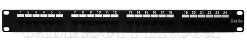 Cat5e 24 Port Computer Patch Panel 1U