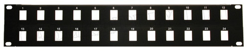 2U 24 and 32 ports Unpopulated Keystone Panel Face Plate
