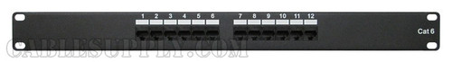 Cat6 12 Port Computer Patch Panel Rack-mount 1U