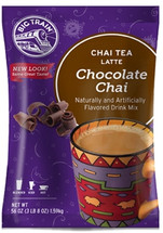 Big Train's Chocolate Chai is a decadent twist on its legendary chai tea latte mixes. Refresh your body and soul with the creamy blend of honey, Dutch Chocolate, black tea and exotic spices.