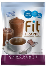 We've blended Fit Frappé with calcium caseinate, a slow-releasing protein your body can use throughout the day. Our Chocolate Fit Frappé is loaded with 20 grams of protein, and contains only 130 calories and less than 1 gram of sugar. No matter how you mix it up, get ready to feel good about what you put in your body. Our naturally flavored Fit Frappé Chocolate Protein Drink Mix is coffee-free and packed with vitamins, minerals and protein. It's also gluten-free and contains no added sugars, hydrogenated oils or trans fats to slow you down. Kosher-Dairy certified.