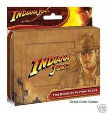 Indiana Jones Playing Cards 2 Deck Tin Crystal Skull