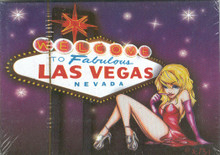 Las Vegas Sign Dancer Show Girl Playing Cards