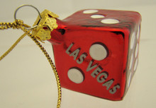 Las Vegas Red Dice Christmas Tree Ornament