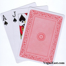 "Giant 7"" x 5"" Plastic Coated Large Playing Cards Poker Jumbo Red Deck"