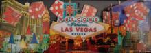 Las Vegas Strip Red Dice Glitter Magnet