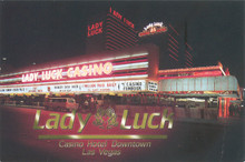 Lady Luck Downtown Las Vegas Postcard