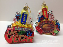 Las Vegas Glass Christmas Ornament Kurt Adler