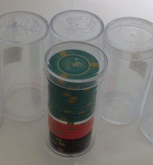 Casino Poker Chip Storage Round Coin Tube Holder