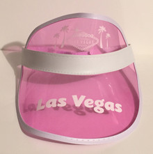 Las Vegas Pink Poker Visor Palm Trees