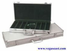 Aluminum Poker Chip Case 500 Chips