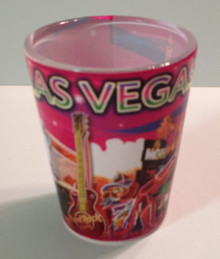 Las Vegas Sign Hotel Casino Pink Shot Glass