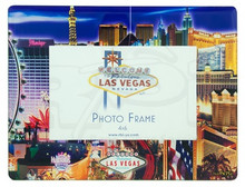 Las Vegas Welcome Strip Sign Picture Frame Casino Hotels Photo Glass Mirage MGM