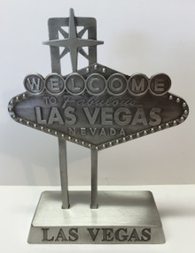 Welcome To Las Vegas Sign Pewter 5 inch Miniature Replica