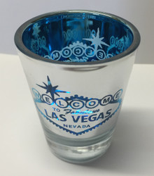 Las Vegas Blue Mirror Shot Glass