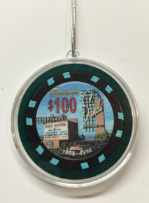 Sands Casino Las Vegas $100 Chip Christmas Ornament