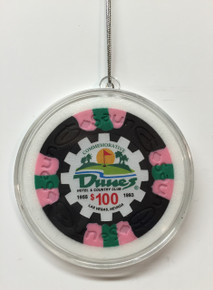 Dunes Casino Las Vegas $100 Chip Christmas Ornament