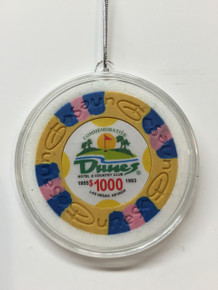 Dunes Casino Las Vegas $1000 Chip Christmas Ornament