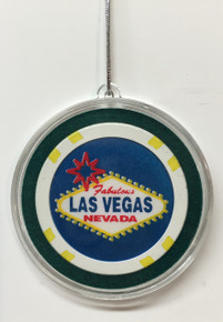 Welcome To Las Vegas Sign Chip Christmas Ornament