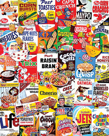 White Mountain Cereal Boxes 1000 Piece Jigsaw Puzzle
