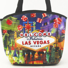 Las Vegas Sign Red Dice Tote Bag