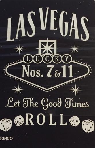 Las Vegas Sign Black Playing Cards