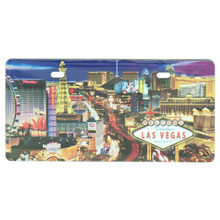 Las Vegas Sign Skyline License Plate