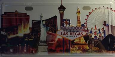 Las Vegas Hotels White License Plate