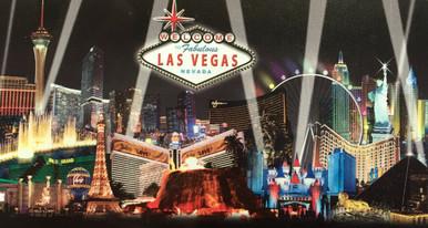 Las Vegas Strip Hotel Skyline Black Beach Towel