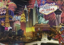 Las Vegas Fireworks Postcard