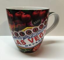 Las Vegas Sign Chips Casino Large Belly Coffee Mug