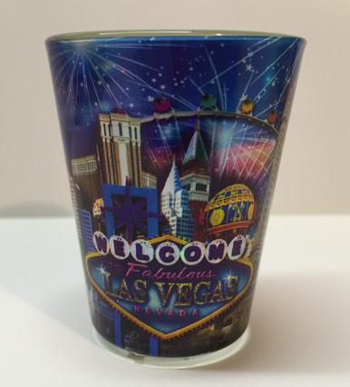Las Vegas Metalic Look Shot Glass