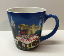 Las Vegas Sign Coffee Mug Cup Blue Skyline
