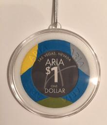 Aria Las Vegas Casino Chip Holiday Ornament