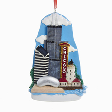 Chicago Skyline Scene Holiday Tree Ornament