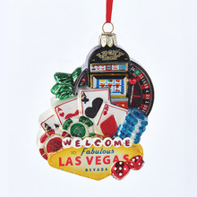 Las Vegas Glass Holiday Christmas Ornament Kurt Adler