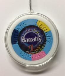 Harrah's Las Vegas Casino Chip Holiday Ornament